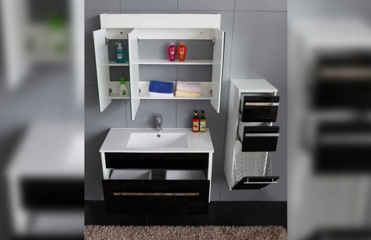 Стенен колонен PVC шкаф за баня